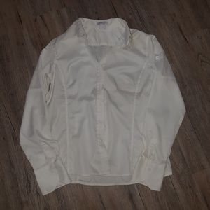 🌟Women's North End Sport White Button Down Large